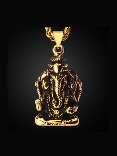 Retro Ganesha Necklace