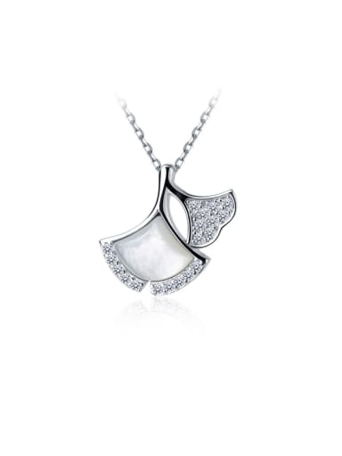 925 Sterling Silver With Shell Simplistic Irregular Necklaces