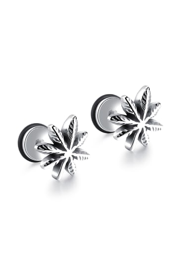Tiny Flowery Titanium Stud Earrings