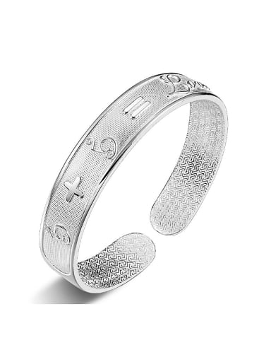 Personalized 999 Silver Numerals Letters Opening Bangle