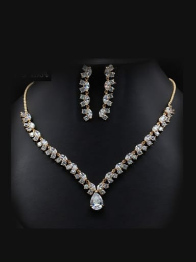 Personality Wedding Accessories Two Pieces Jewelry Set