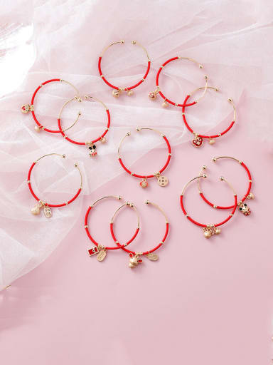 Alloy With Rose Gold Plated Simplistic Irregular Bangles