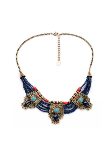 Fashion Retro Multilayer Alloy Sweater Necklace