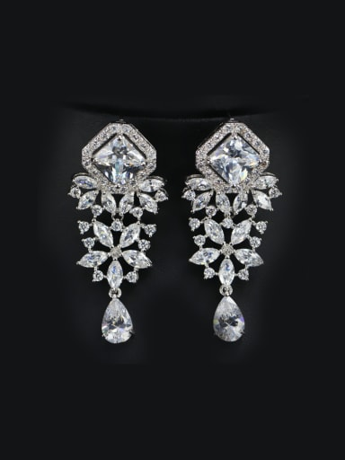Wedding Accessories Zircons Cluster earring