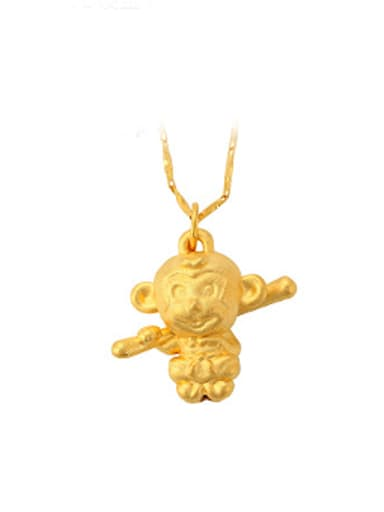 Personalized Little Monkey Gold Plated Pendant