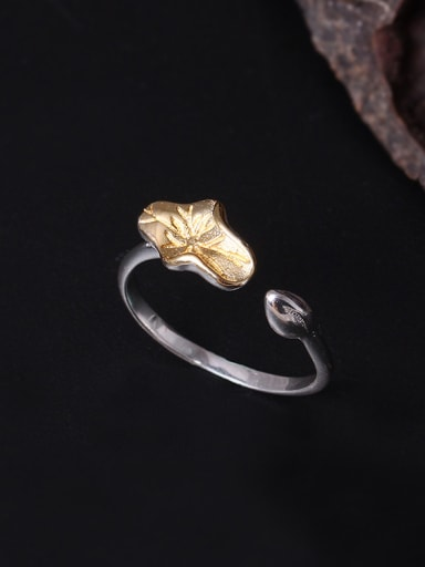 Color Lotus Leaf Opening Statement Ring