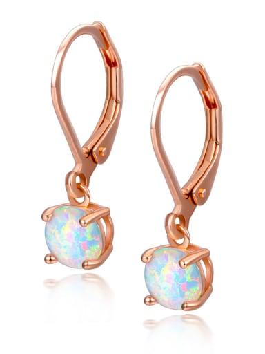 Western Style Opal Stones Hook Earrings