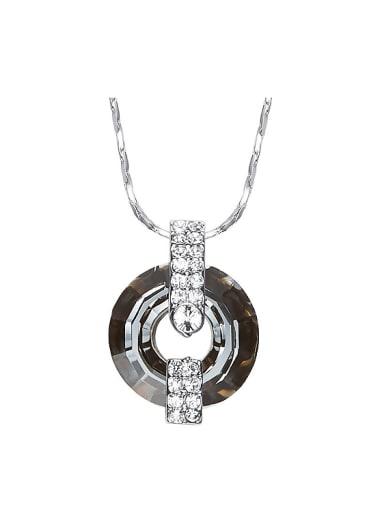 Fashion Round Swarovski Crystal Zircon Necklace