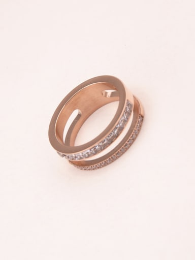 Fashion Double Lines Women Ring