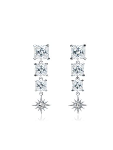 Shining Zircons Wedding Accessories Women Drop Earrings