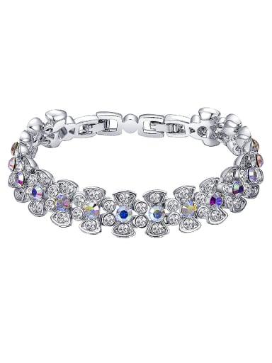 Flower-shaped Crystals Bracelet