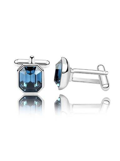 Fashion Clear Swarovski Crystal Men Cufflinks
