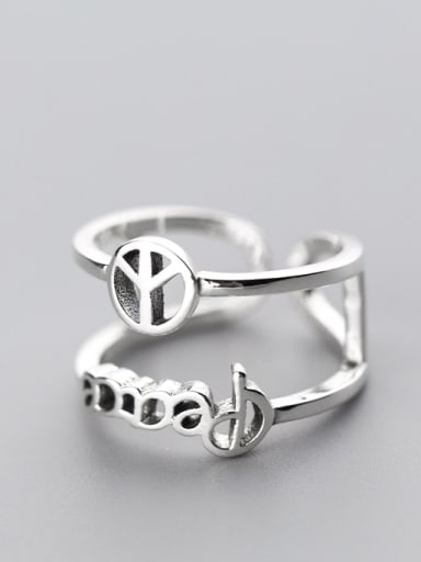 Exquisite Double Layer Airplane Shaped S925 Silver Ring