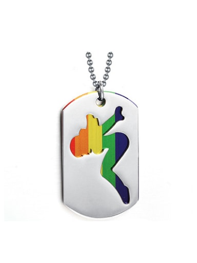 Exquisite Square Shaped Colorful Glue Double Layer Pendant