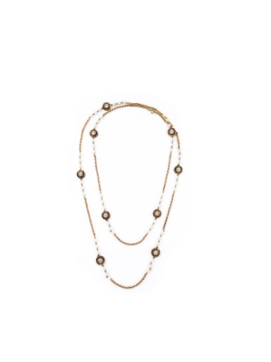 Simple Long  Alloy Necklace