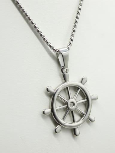 Anchor Pendant Stainless Steel Necklace
