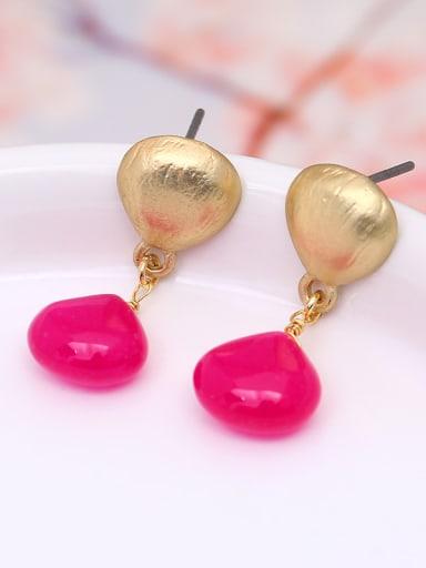 Women Exquisite Geometric Shaped Jade Earrings