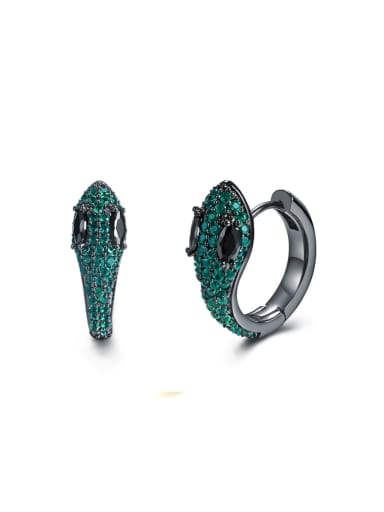 New snake shaped fine micro Zircon Earrings