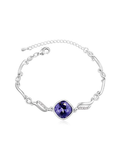 Fashion Shiny Swarovski Crystal-accented Alloy Bracelet