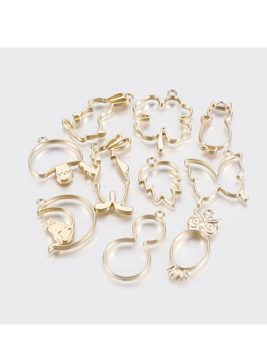 Alloy With Imitation Gold Plated Cute Insect flower  Charms