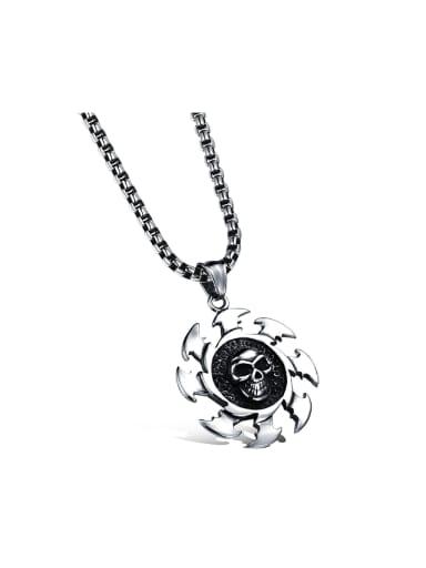 Punk Personalized Skull Titanium Necklace