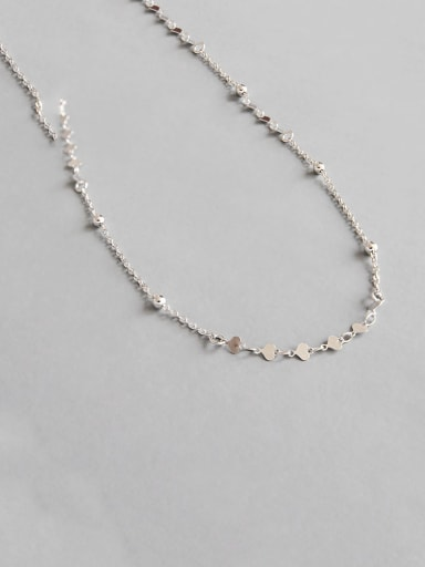 925 Sterling Silver With Smooth Simplistic Heart Necklaces
