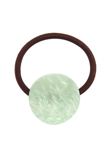 Water green Rubber Band With Cellulose Acetate Simple Round ShapedHair Ropes Hair Ropes