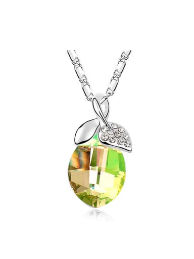 Simple Swarovski Crystals Pendant Alloy Necklace
