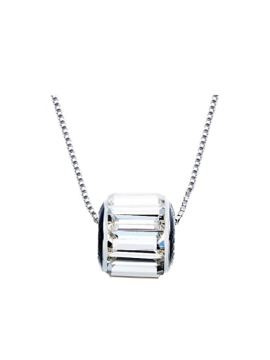 Simple Swarovski Crystal-studded Bead Necklace