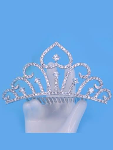 Hollow Crown Noble Crown-shape Copper Hair Accessories