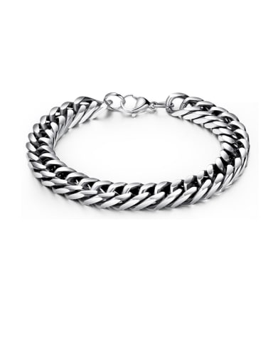 Stainless Steel With Gun Plated Vintage Chain Bracelets