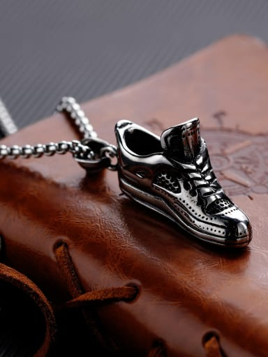 Stainless Steel With Antique Silver Plated Trendy Irregular with shoes Pendants