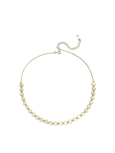 Simple Tiny Round shapes Gold Plated Necklace