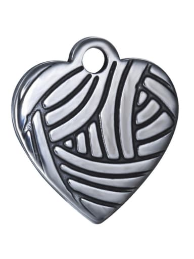 Stainless Steel With Antique Silver Plated Vintage Woven peach Heart Charms