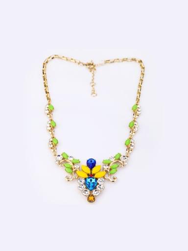 Wedding Accessories Flower Alloy Necklace