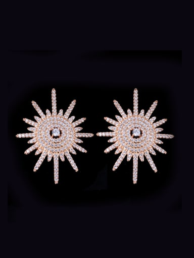 Sparking Micro Pave Zircons Luxury Stud Earrings