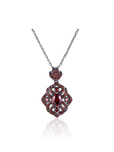 Retro Zircon Rhinestones Women Necklace