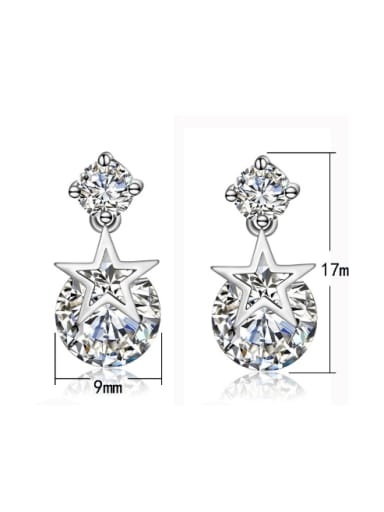 Elegant Exquisite Star Zircons Fashion Drop Earrings