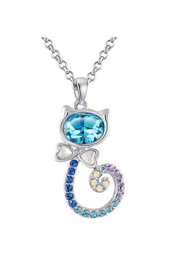 Cat-shaped Swarvski Crystal Necklace