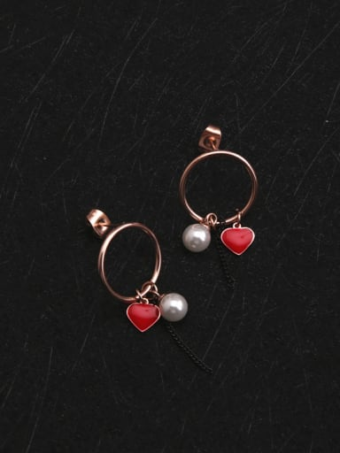 Korean Style Round Temperament Earrings