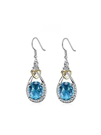 Creative Water Drop Shaped Zircon Drop Earrings