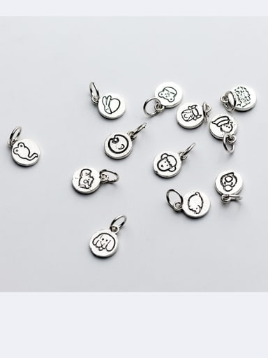 925 Sterling Silver With Platinum Plated Cute Animal Charms