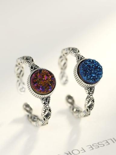 Sterling silver Thai silver style  semi-precious stones  ring