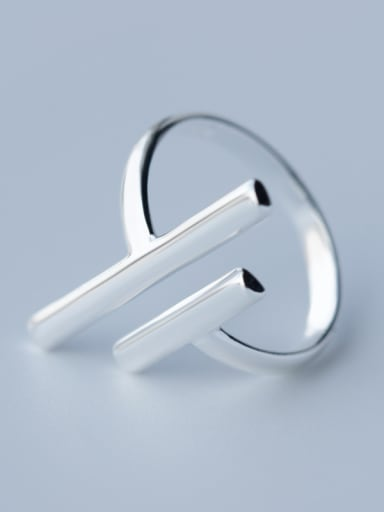 925 Sterling Silver With Silver Plated Simplistic free size Rings