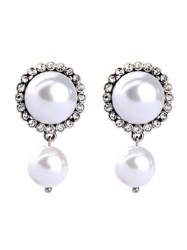 Artificial Pearls Alloy Women Fashion Stud Earrings