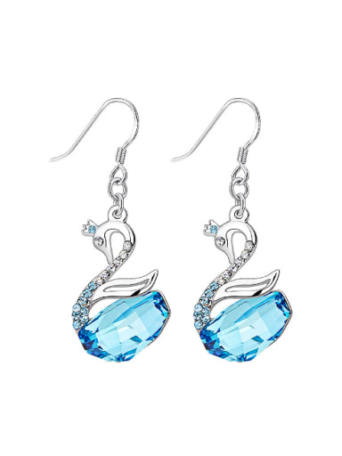 S925 Silver Swan-shaped drop earring