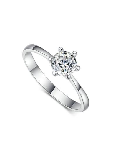 AAA Zircons Simple Fashion Wedding Ring