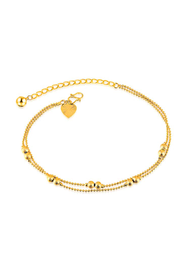 Retro style Gold Plated Tiny Beads Anklet