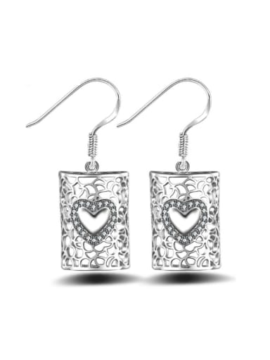 Fashion Exquisite Lock Shaped Drop Earrings