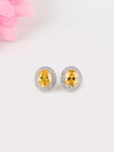 Europe and the United States Dove Egg Shaped Zircon Gorgeous And Fashion stud Earring